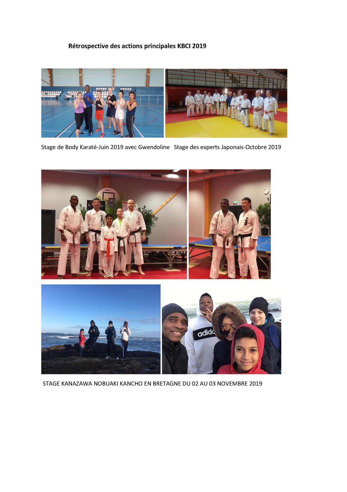 Retrospective des actions principales kbci 2019 2